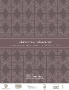 BALANCE AL PODER LEGISLATIVO PERIODO 2010-2013