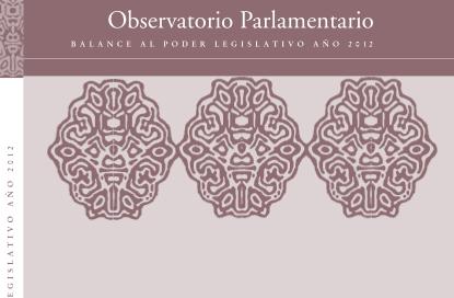 Balance al Poder Legislativo 2012 tapa