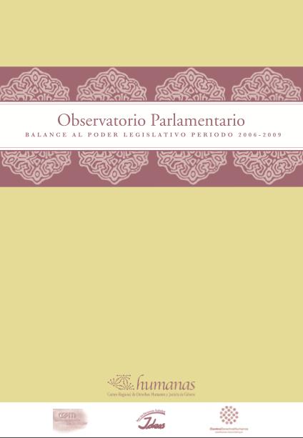Balance al Poder Legislativo Periodo 2006-2009 portada