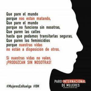 Gran Paro Internacional de Mujeres para el 8 de Marzo