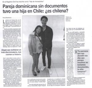 Pareja Dominicana sin documentos tuvo a su hija en Chile: ¿Es Chilena?