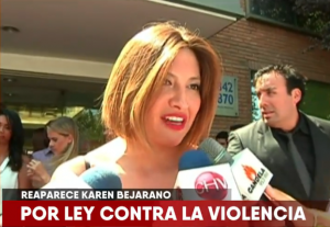 Karen Bejarano acudió al SERNAM por ley de violencia integral