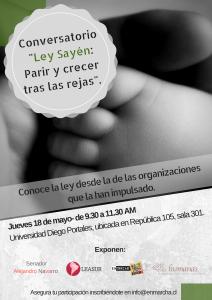 Conversatorio: Ley Sayén, Parir y crecer tras las rejas
