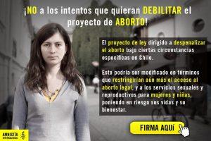 Amnistía Internacional emite acción urgente a nivel global por intento de debilitar la ley de aborto