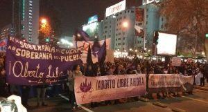 Multitudinaria marcha por el aborto «libre y seguro» se toma las calles de la capital