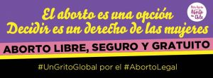 En día de aborto legal: mesa acción reivindica el aborto como un derecho de las mujeres y aboga por su despenalización social y penal