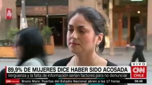 89,9% de las chilenas ha sido acosada sexualmente