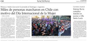 Miles de personas marcharon en Chile por el Día Internacional de la Mujer