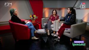 #PolíticamenteHumanas junto a Carmen Andrade, encargada Oficina Igualdad de Oportunidades de Género de la U. Chile y Danae Borax, vocera de la toma feminista de Fac. Derecho