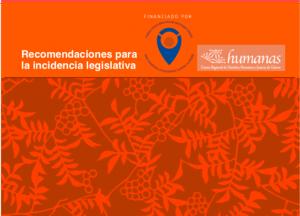 Recomendaciones para la incidencia legislativa
