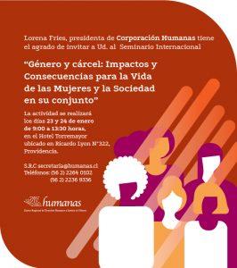 Jueves 23 y viernes 24 de enero Corporación Humanas realiza Seminario Internacional: «Género y Cárcel»