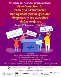 Un diálogo con feministas constitucionalistas: ¿Qué Constitución para qué democracia? Una apuesta por la igualdad de género y los derechos de las mujeres