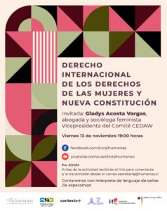 """Conversatorio """"Derecho Internacional de los Derechos de las Mujeres y Nueva Constitución"""""""