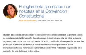 El reglamento se escribe con nosotras en la Convención Constitucional
