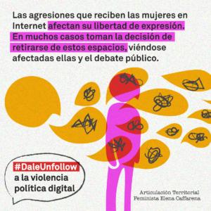 """""""#DaleUnfollow"""": La Articulación Territorial Feminista Elena Caffarena realiza campaña virtual para derribar la violencia política de género en la Convención"""