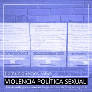 Lanzan campaña para visibilizar y concientizar sobre la Violencia Política Sexual